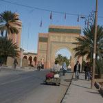 Das Tor zur Einfahrt nach Rissani