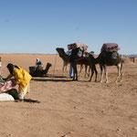 Die einen mit Kamel.....