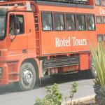 Auch das rollende Hotel ist in Tiznit unterwegs