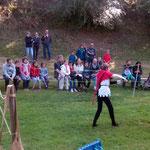démonstration d'escrime de spectacle pour les journées du patrimoine au château des Rohan