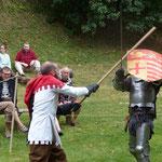 démonstration d'escrime artistique pour les journées du patrimoine au château des Rohan