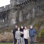 Avant le repas du soir et la compétition indiv, une petite balade en équipe au château de Fougères