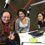 Con la Artista Plástica Perla Crespo y al centro la Arq. Mayra Reyes