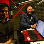 Con el Arquitecto y Escritor Ulises Paniagua Olivares en Jazz Arquitectónico y hablando sobre su obra literaria