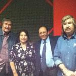 Con la Arq. Isabel Cantú E. y los Hermanos Carrión: Ricardo y Héctor