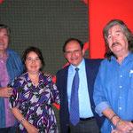Con los Hermanos Carrión y la Arq. María Isabel Cantú Escudero