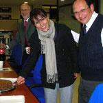 """Con la Lic. Rocío García M. y el Dr. Manuel Aguirre O. en la Inauguración de """"Jazz Arquitectónico"""""""