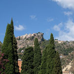 Taormina, die Stadt in den Berg dabaut