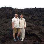 Einmal auf erkaltete Lava stehen