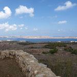 Ein super Blick auf Gozo beim Rundgang um den Turm