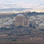 Blick auf Mosta - Maria Himmelfahrts-Kirche