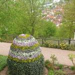 Der Klostergarten ist gepflegt und die Gegend läd zum Wandern ein.