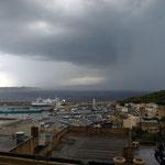 Und das Wetter zog in die gleiche Richtung ab woher es kam