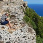 Claudia`s blick übers Mittelmeer