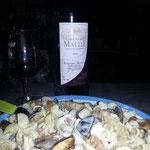 Moment dégustation du plat et du vin