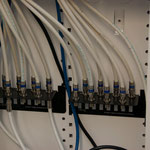 The coax patch panel.