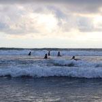 Surflektionen in Jaco, Costa Rica