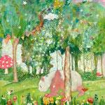 [ センチメンタルジャーニー]       油彩、キャンバス 27×22 cm     2017年