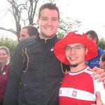 Jan Frodeno (Triathlon-Olympiasieger 2008) und meine Wenigkeit