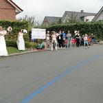 """""""Hochzeit"""" am Streckenrand? - Kurz vor KM 35 eine willkomene Abwechslung!"""