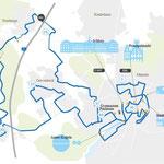 Schematische Darstellung des Marathon-Kurses