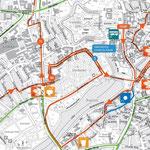 Detaillierter Streckenplan - KM 10 bis 16