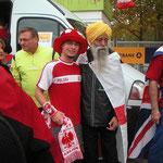 Gemeinsam mit Fauja Singh, dem 99-jährigen Marathonläufer