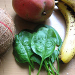 Zutaten für den grünen Smoothie