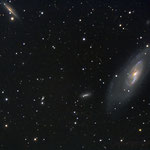 """18/02/17 M 106 - C elestron C 8 ridotto a F 6,3 -QHY8 L - NEQ6 Pro - 37 x 420"""" - Osservatorio Belvedere"""