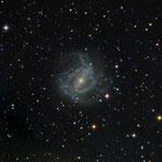 """09/04/2015 M 83  Southern Pinwheel Galaxy - Celestron C 8 ridotto f 6,3 - QHY8 L - Monte Torcellino - 13 x 420"""""""