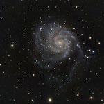"""28/02/17  M 101 - Celestron C8 ridotto a F 6,3 - QHY8 L - NEQ6 Pro - 35 x 420 """" - Osservatorio Belvedere"""