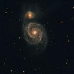 "18/02/2018 M 51 - Galassia Whirpool - Celestron C8 XLT a f 10 - QHY8 L - OAG Tecnosky - 7 x 600 "" - Osservatorio Belvedere"