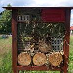 Insektenhotel gebaut von den Schlaufüchsen auf der Patenschaftsfläche