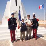Marcel BARABARY, 98 ans, porte drapeau de la Division Française Libre avait fait le voyage depuis Bordeaux