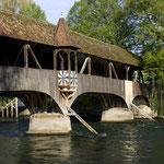 Gedeckte Brücke vom Wakker-Dorf Turgi