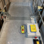 Nieuwe kooikast met inspectiebediening