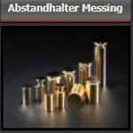 Abstandhalter Messing - pol. zaponiert Gold ab Ø10 mm -  Schilderhalterungen zum Einklemmen - für versch. Schilderdicken (ab 1 mm) - 4 St. ab 28,90 € - inkl. Befestigungszubehör