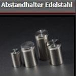 Abstandhalter VA - Edelstahl - ab  Ø10 mm - Schilderhalterungen zum Einklemmen - für versch. Schilderdicken (ab 1 mm) - 4 St. ab 20 € - inkl. Befestigungszubehör