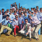 "30"" x 20"", Oil on Canvas. Les hommes de Sigma Nu."