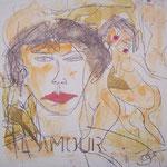 L'amour - 20 x 20cm (Holzplatte)