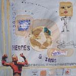 heroes & zero's - 30 x 30cm