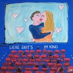 Liebe gibts im Kino - 50 x 50cm