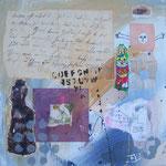 Der Brief aus einer anderen Zeit - 30 x 30cm