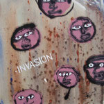 Invasion - 30 x 30cm