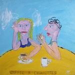 coffe & cigarettes - 50 x 50cm