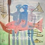Die Fischer - 50 x 50cm