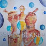 Seifenblasen - 20 x 20cm (Holzplatte)