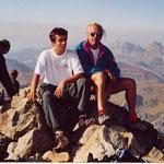 Père et fils au sommet de l'Ossau