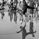 Ballet nautique au miroir d'eau