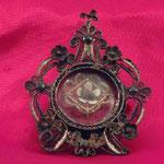 Reliquiario sferico con motivi floreali. Bottega toscana sec. XIX